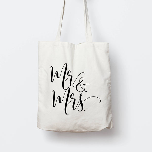 Mr and Mrs Tote Bag - littleweddingstore.co.nz