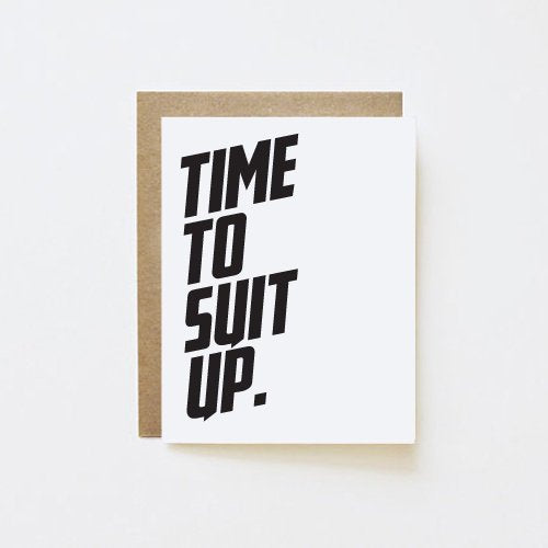 Time to Suit Up Groomsman Card - littleweddingstore.co.nz