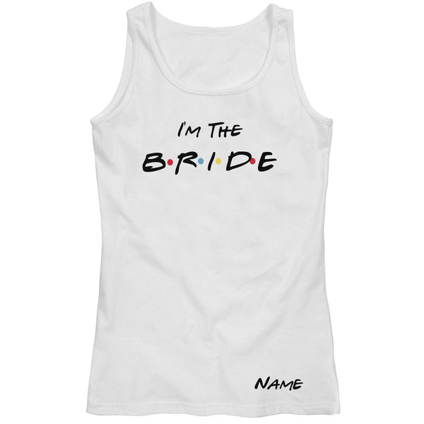 I'm The Bride Personalised Singlet - littleweddingstore.co.nz