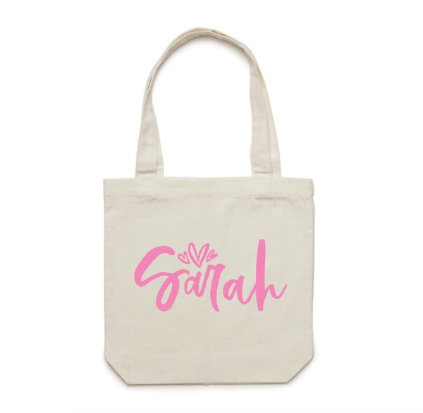 Personalised Tote Bag - littleweddingstore.co.nz