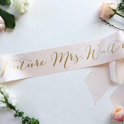 custom bride sash hens night personalised