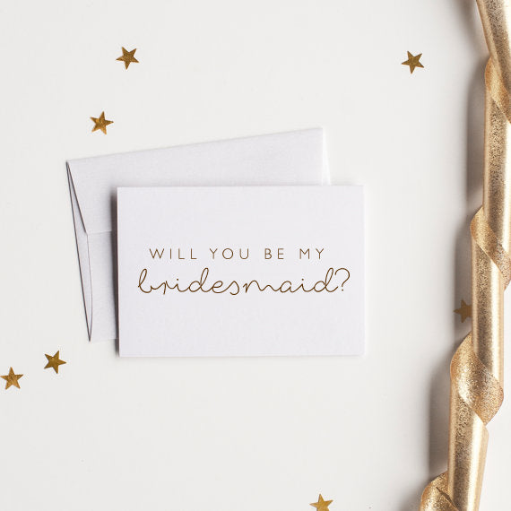 Will You Be My Bridesmaid? - littleweddingstore.co.nz