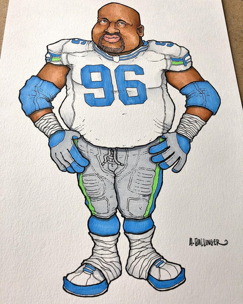 Adam Ballinger Draws Cortez Kennedy