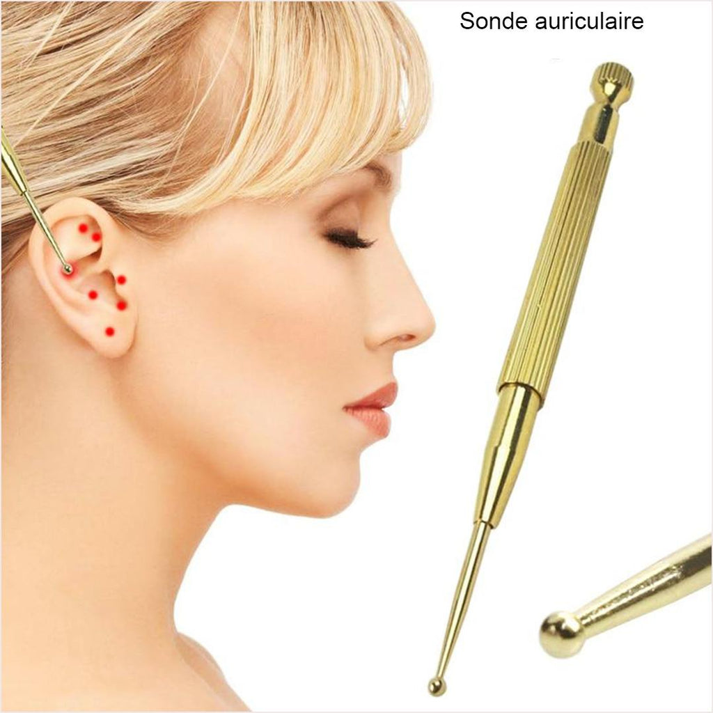 sonde accupuncture acupression massage soulage acouphène points shiatsu