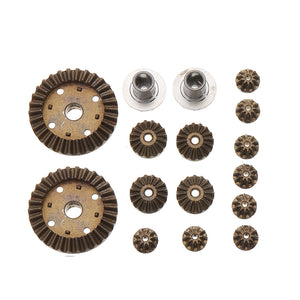 16PC Upgrade Metal Gear Set For Wltoys 12428 12423 124011 124301 RC Car Parts