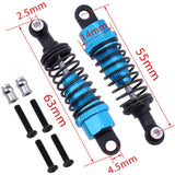 4pcs For 1/18 WLtoys A959 Upgrade Parts Aluminum Shock Absorber Front & Rear A949-55 Fit A949 A969 A979 K929
