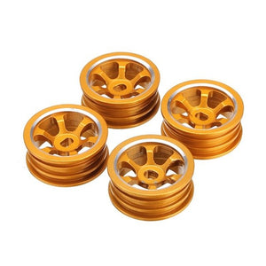 High Quality 1/28 Upgraded Metal Rims 4PCS For WLtoys K979 K989 Rally Buggy Off-road RC Cars