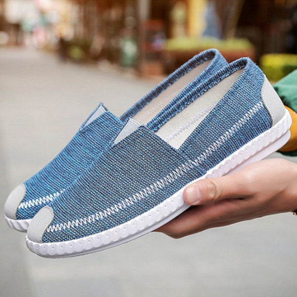 Old Peking Style Fabric Breathable Slip On Soft Men's Casual Shoes