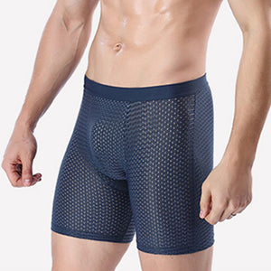 Men's Breathable Mesh Lengthened Underwear Boxers Shorts