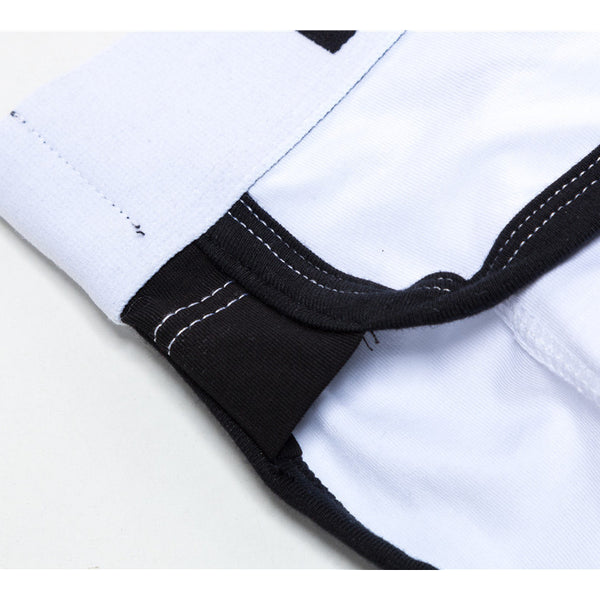 Men's Breathable Cotton Boxer Briefs Stitching Logo Waistband Pads Underwear