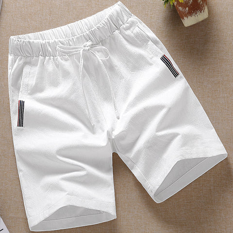 Men's Solid Color Sports Shorts  Casual Cotton Shorts