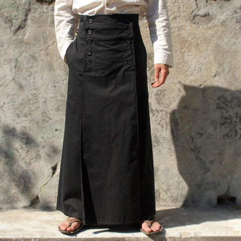 Black Acrylic Solid Casual Pants