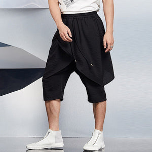 Plain Lightweight Stitching Casual Stretch Cropped Pants