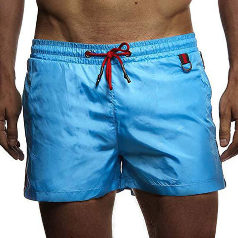 Men's Beach Quick-drying Shorts Casual Solid Colors Sports Trunks
