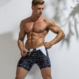Summer Graphic Polyester Beach Casual Swimwear for Men