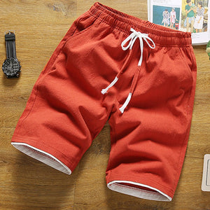 Solid Daily  Holiday Casual Drawstring Shorts