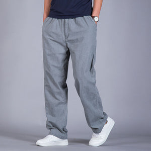 Ultra-thin Loose Cotton Linen Trousers Men's Straight Casual Pants