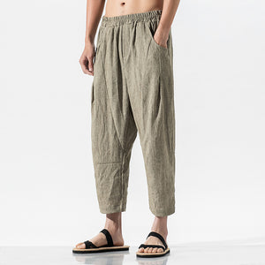Casual Solid Pockets Pants