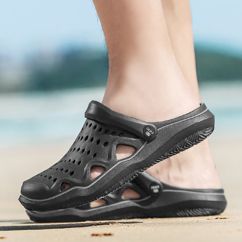 Closed Toe Sandals Unisex Hollow Out Quick Drying Beach Shoes