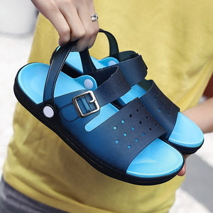 Men Adjustable Heel Strap Comfy Soft Water Casual Beach Sandals
