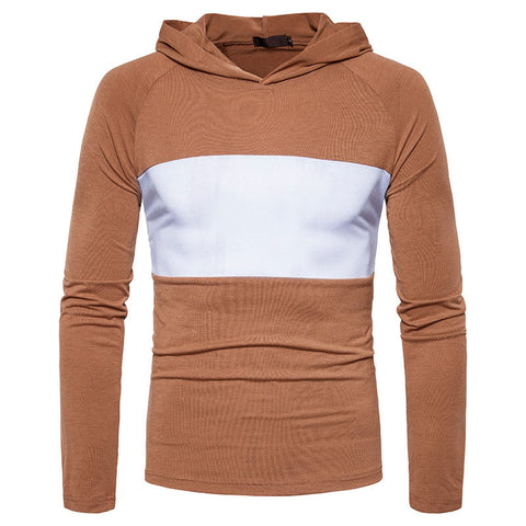 Contrast Color Casual Men's Hoodies Tops