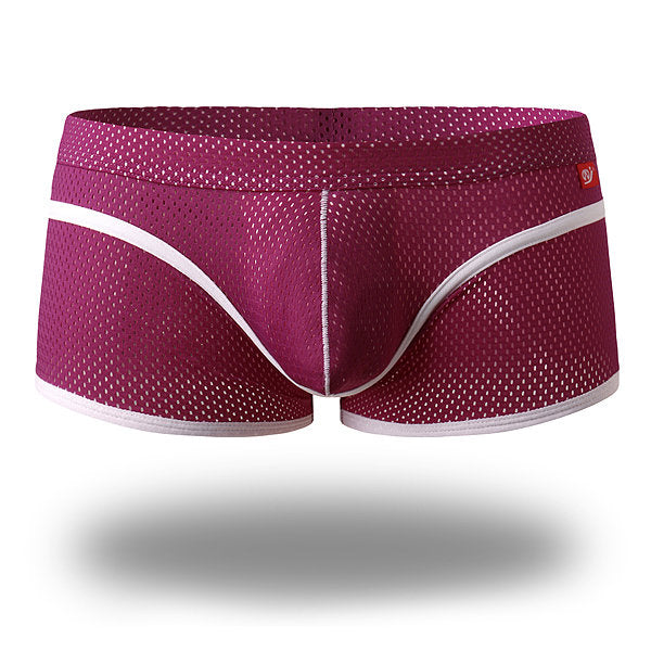 Mesh Breathable Low Rise U Shaped Boxers Briefs
