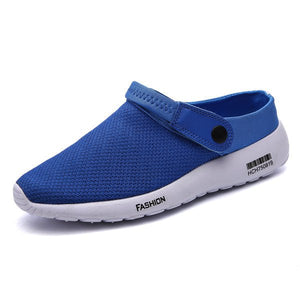 Men's Breathable Toe Protecting Slip On Flat Casual Sport Sandals