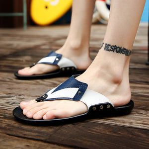 Men Flip Flops  Beach Slippers  Non-slip Casual Slippers