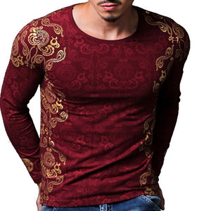 Men's Casual Printed O-neck T-shirt