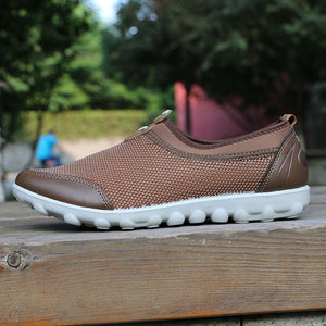 Plus Size Mesh Hollow Out Slip On Mens Sneakers