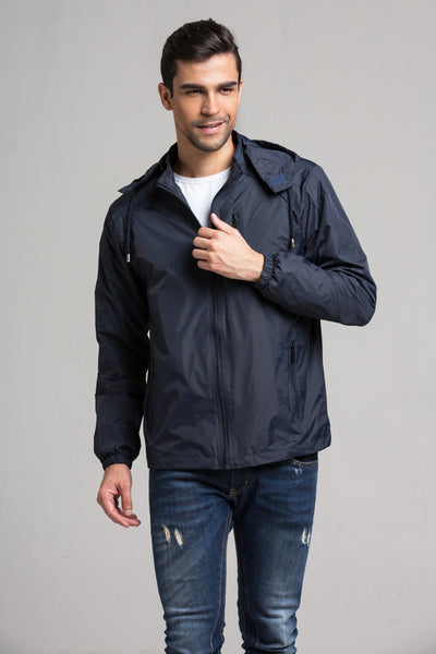 geartom Men's Double Layer Sports Trench Coat