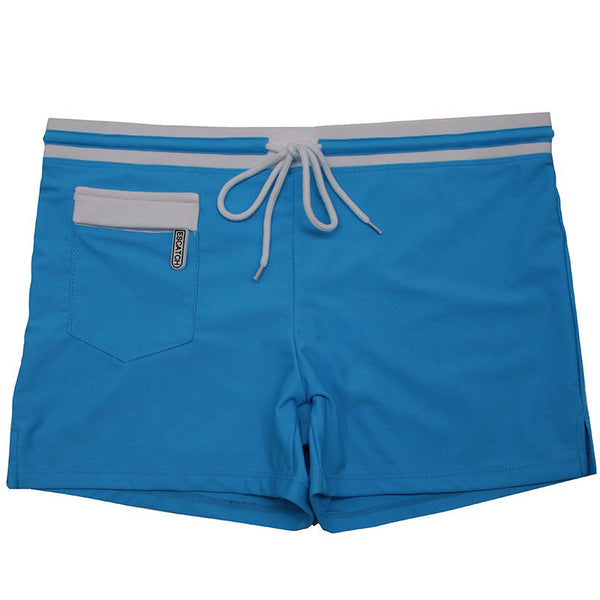 Men's Swimming Trunks Fashion Front Pocket Swimwear Boxer Shorts