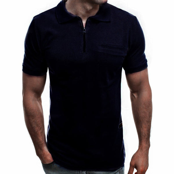 Men's Casual Plain Lapel Collar T-Shirts