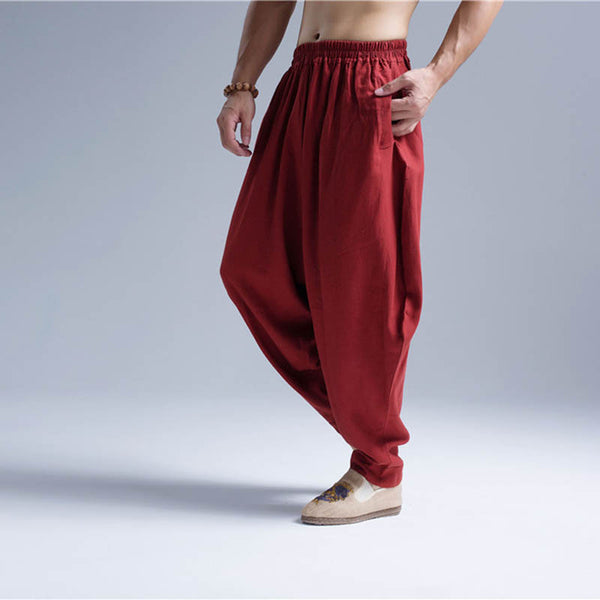 Men's Breathable Casual Loose Harem Pants