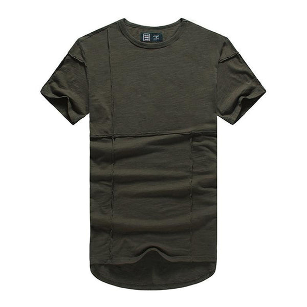 Casual Round Neck Slim Cotton Short-Sleeved T-Shirt