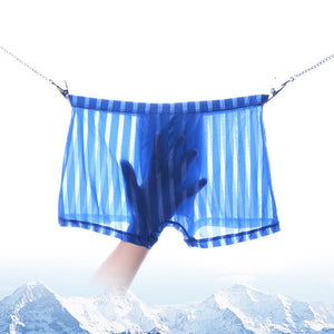 55ae5d2aa952 Ice Silk Transparent Thin Breathable Seamless Men's Boxer Briefs