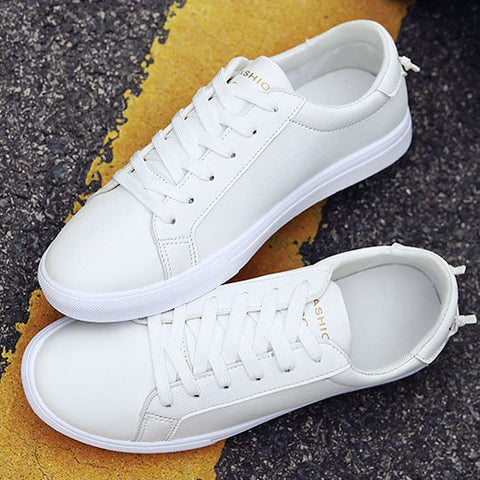 Men Solid White Sneakers