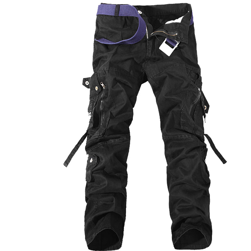Outdoor Military Cargo Pant Men's Straight Multi-pocket Casual Trousers