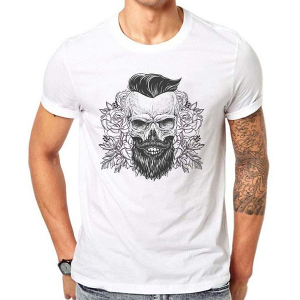 Men's Casual Clown Print Round Neck T-Shirt