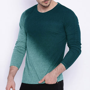 Fashion Gradient Design Comfortable Round Neck T-Shirt