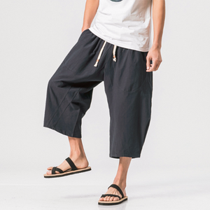 Men's Breathable Linen Drawstring Casual Shorts
