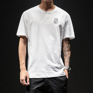 Men's Loose Large Size Print T-Shirt