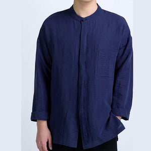Men's Long-sleeved Casual Collar Loose Plus Size Shirts