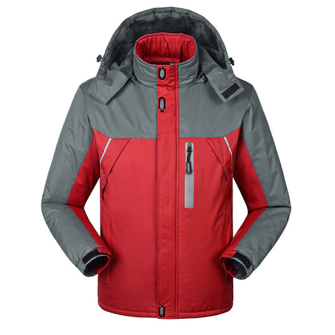 geartom Windproof & Waterproof Cashmere Thick Warm Men's Jackets