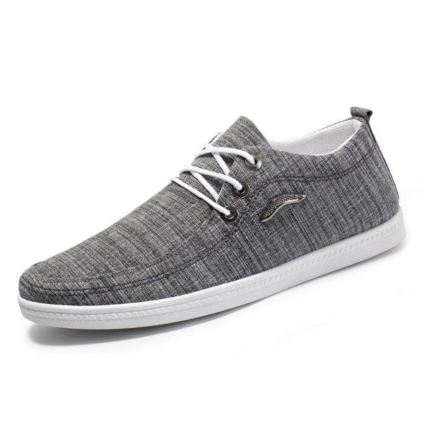 Comfy Canvas Shoes Low Top Sneakers Lace Up Shoes Casual Men Shoes