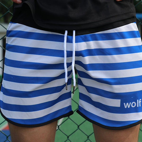 Men's Striped Drawstring Quick Dry Sports Board Shorts
