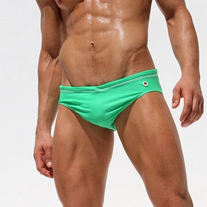 Men's Sexy Solid Color Swim Shorts Bikini Beach Trunks