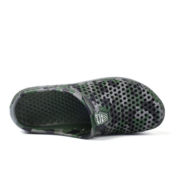 Mens Slippers Slip On Closed Toe Beach Shoes