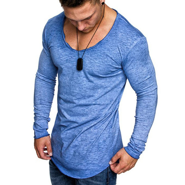 Spring New Cotton Men's Long Sleeve T-shirt