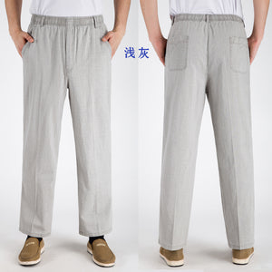 Men Casual Linen Pants
